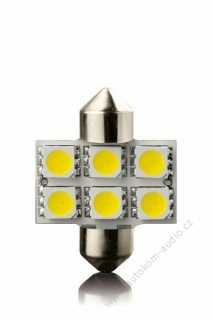 Žárovka LED6 SV8,5 31mm 12V- WHITE